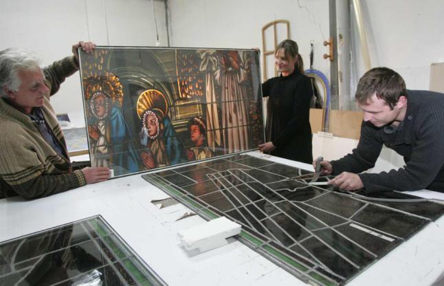 Restauración de las Vidrieras Del Cimborrio De Basílica Santa María S. XVII