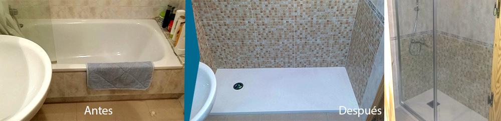 Reforma en baño-Plato de ducha